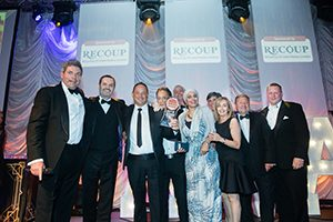 Counterplas collecting their award for the Plastics in Industry award for Best Recycled Product 2016