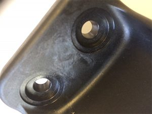 Jetting can be defined as a ``snake-like'' pattern on the surface of a molded part, usually emanating from the gate area.